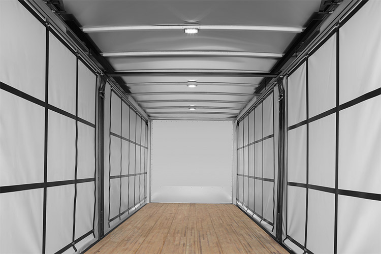 Morgan Dry Freight Curtainsider interior view of bulkhead
