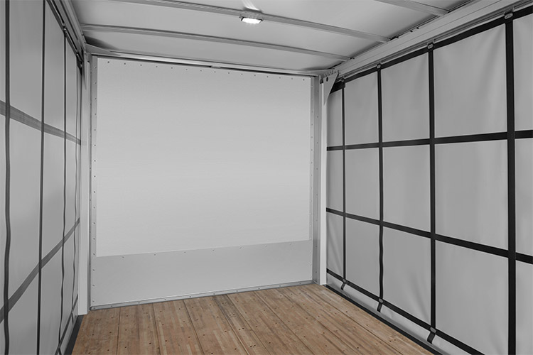 Morgan Dry Freight Curtainsider front wall inside