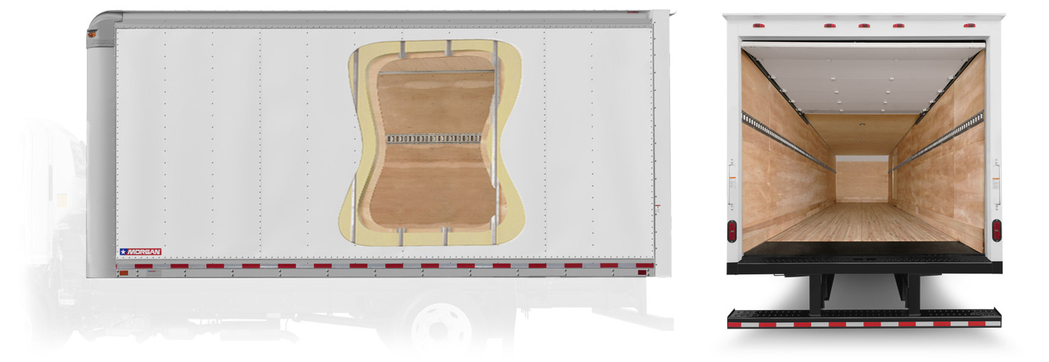 Morgan Dry Freight insulated aluminum wall construction